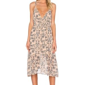For Love And Lemons Floral Pia Dress Open Back